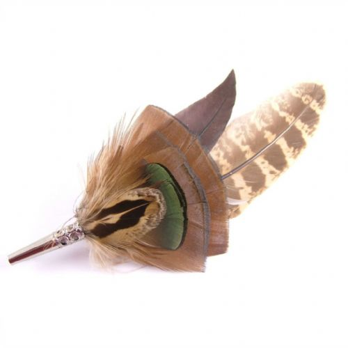 Country Feather Brooch - Gamebird